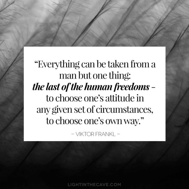 Viktor Frankl quote about freedom